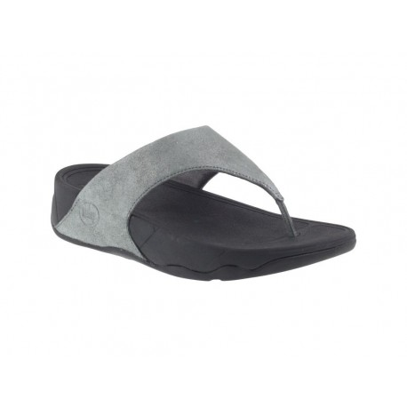 Infradito Fit Flop Lulu shimmersuede donna pelle grigio