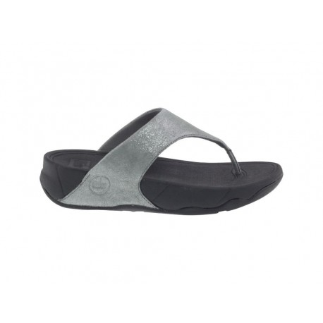 Infradito FitFlop Lulu shimmersuede donna pelle grigio