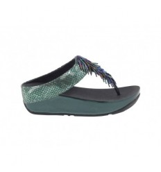 Infradito Fitflop Cha cha donna pelle verde