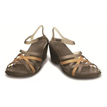 Crocs Huarache sandal wedge w espresso mare donna estate