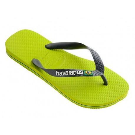 Havaianas Brasil logo verde infradito mare uomo donna estate