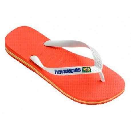 Havaianas Brasil logo arancione infradito mare uomo donna estate
