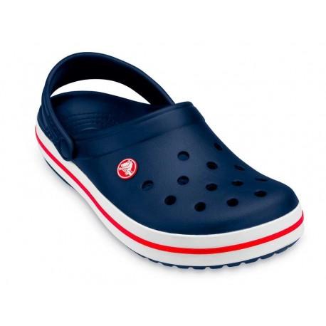 Sandalo Crocs Crocband uomo donna blu in gomma con cinturino e fori estate