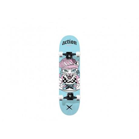 Action now skateboard completi sport con grafiche azzurro mini
