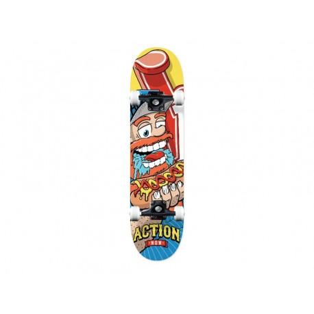 Action now skateboard completi sport con grafiche rosso