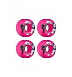 Bones wheels ruote skate fuxia 51mm