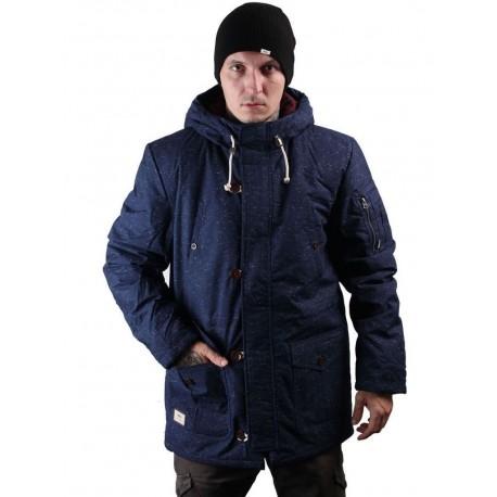 Vans giacca invernale imbottita imperemabile uomo con cappuccio blu