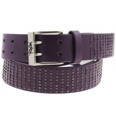 Cintura Rip Curl Rivets II borchiata fibbia classica in pelle viola
