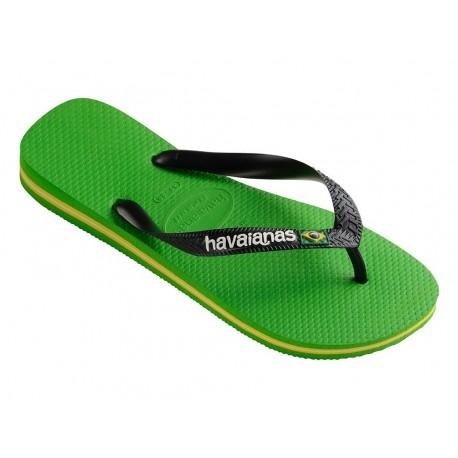 Havaianas brasil logo infradito uomo donna verde chiaro