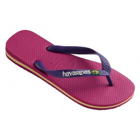Havaianas brasil logo infradito uomo donna viola