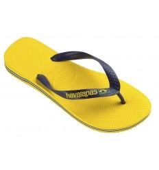 Havaianas brasil logo giallo infradito mare uomo donna