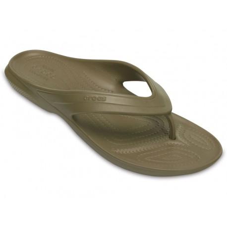 Crocs sandalo classic flip uomo donna infradito verde
