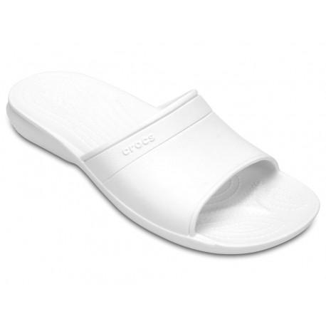 Crocs sandalo classic slide uomo ciabatta bianco
