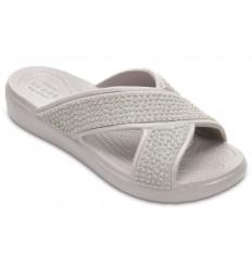 Sandalo Crocs Sloane donna incrocio grigio chiaro