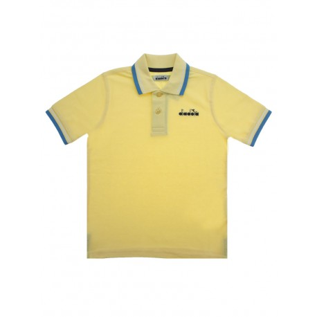 Polo diadora manica corta bambino giallo