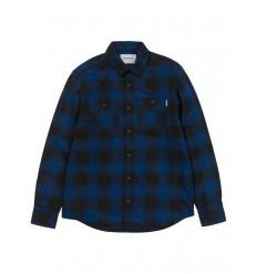 Camicia Carhartt WiP L/S Josh Shirt uomo donna quadri blu