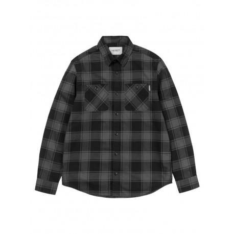 Camicia Carhartt WiP L/S Josh Shirt uomo donna quadri grigio scuro