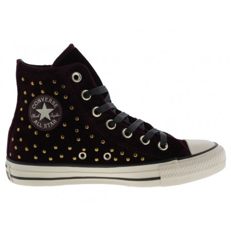 Scarpe Converse Ct as hi donna velluto bourdeaux