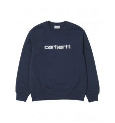 Felpa Carhartt sweet estate uomo blu