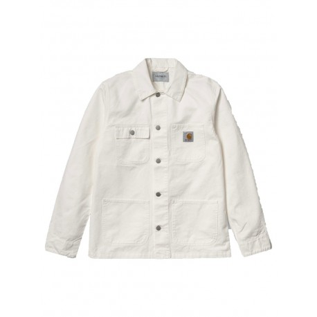 Giubbino Carhartt Michigan Chore coat estate uomo bianco