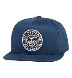 Cappelli con visiera Obey da uomo in cotone blu