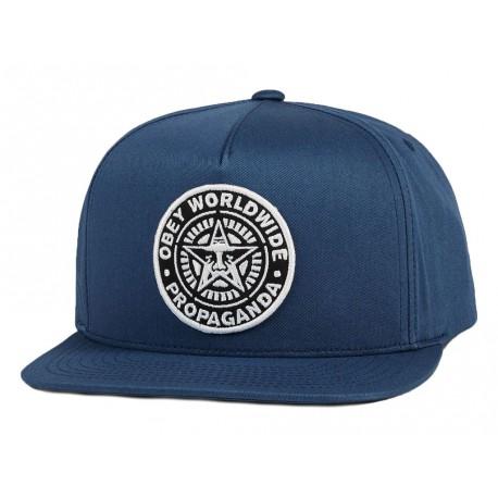 Obey Da Uomo Visiera Cotone In Cappelli Con Blu trhQsxdCB