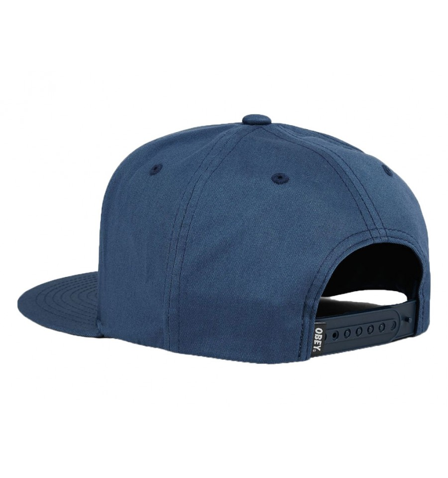 Cappelli con visiera Obey da uomo in cotone blu 8cfaf3d1dde5