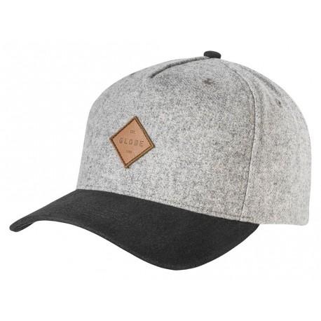Cappelli Globe con visiera Gladstone II Snapback grigio chiaro