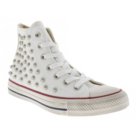Scarpe Converse Ct as hi distressed donna bianco