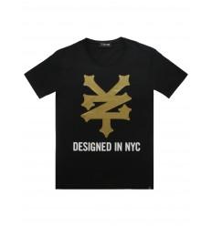 T-shirt Zoo York Mega Logo da uomo nero