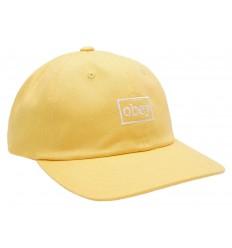 Cappelli Obey con visiera Outline da uomo giallo