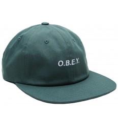 Cappelli Obey con visiera Barrage da uomo verde