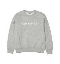 Felpa Carhartt sweet estate uomo grigio chiaro