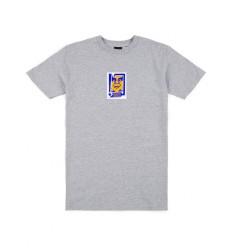 T shirt Obey Arrow da uomo girocollo grigio chiaro
