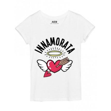 T shirt AIEM da donna Innamorata bianco