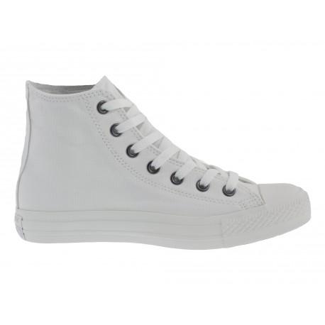 Scarpe Converse all star hi white mono bianco