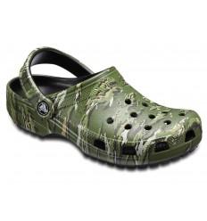 Sandalo Crocs Classic Graphic Camo verde scuro
