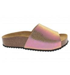 Sandalo Plakton da donna Verona laminato rosa