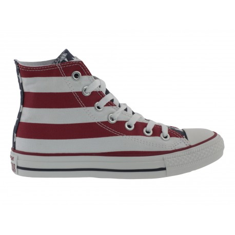 Scarpe Converse all star stars and bars uomo donna bianco
