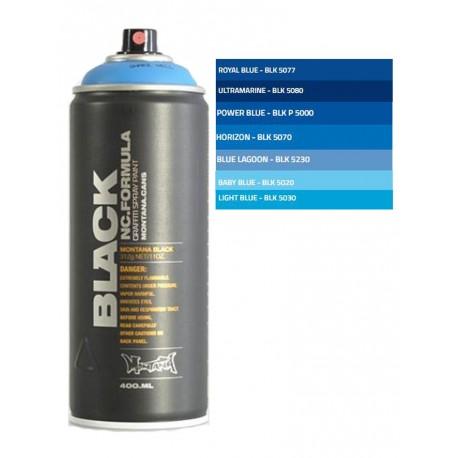 Bombolette Montana spray graffiti tonalità blu