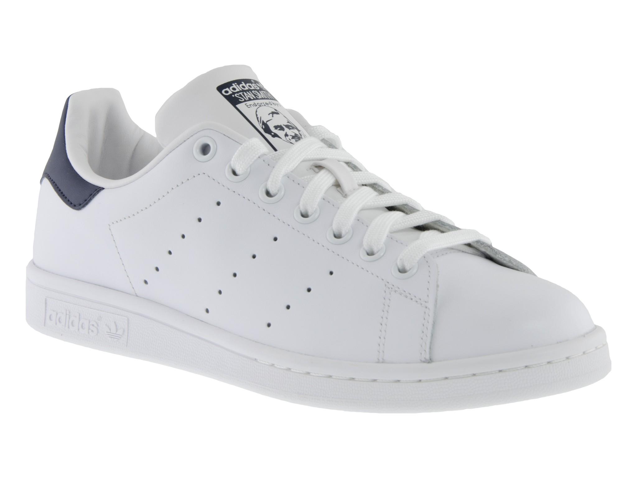 Scarpe Adidas Stan Smith uomo bianco e blu