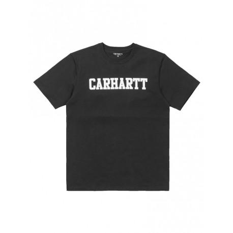 T shirt Carhartt uomo College manica corta nero