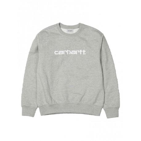 Felpa Carhartt sweet da uomo mezza stagione grigio chiaro