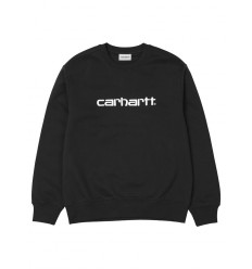 Felpa Carhartt sweet da uomo mezza stagione nero