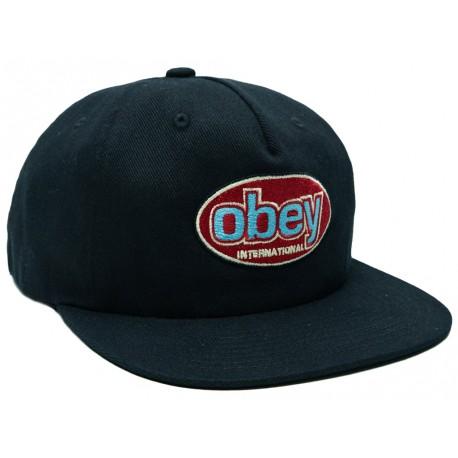 Cappelli Obey con visiera Remain da uomo nero