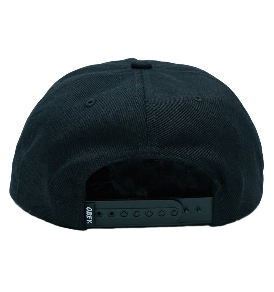 Cappelli Obey con visiera Remain da uomo nero fb6e757d4e38