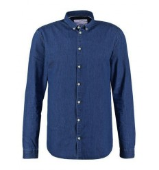 Camicia Minimum Walther 0413 da uomo jeans medium blue