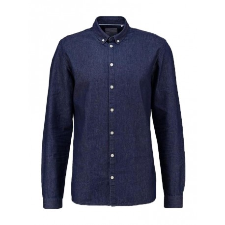 Camicia Minimum Walther 0413 da uomo jeans dark blue