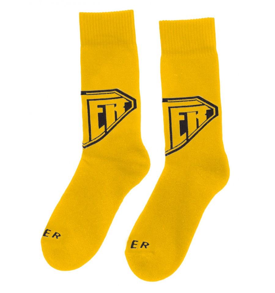 disegni attraenti Garanzia di soddisfazione al 100% scarpe sportive Calzini Iuter Logo Sock da uomo giallo