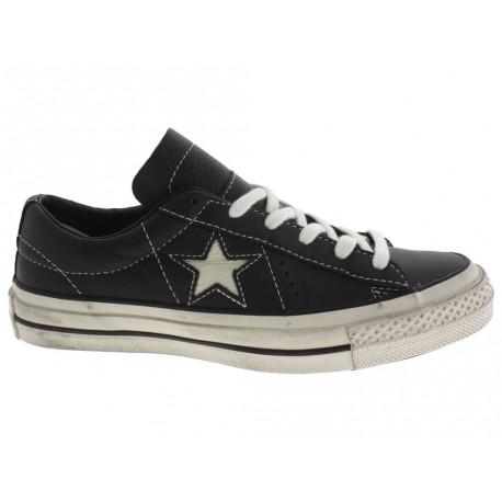Scarpe Converse One star distressed donna nero